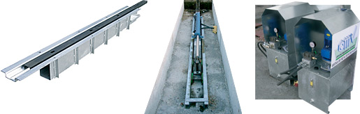 GUIDE RAIL VERIN ET CENTRALE HYDRAULIQUE